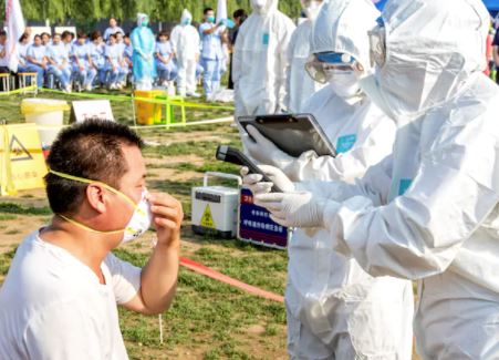 China reports first human case