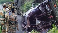 Army vehicle accident in sikkim