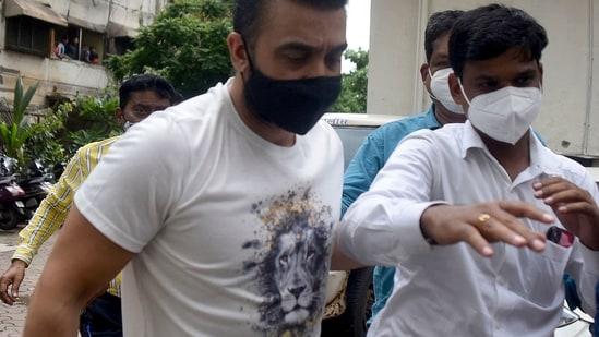 raj kundra office and seized