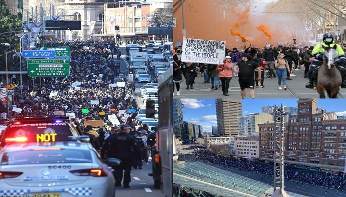 anti lockdown protest in sydney