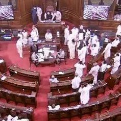 slogans against the pm in the house