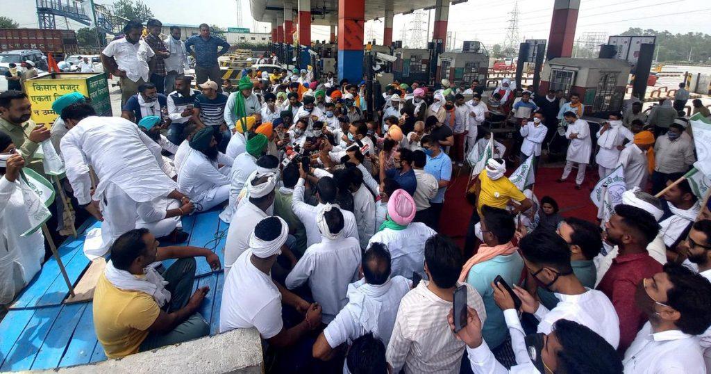 Rakesh Tikait on tractor rally