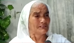 Elderly mother beaten