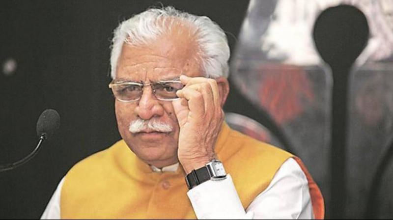 Manohar Lal Khattar attack on Kejriwal