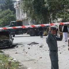 un headquarters attacked western afghanistan