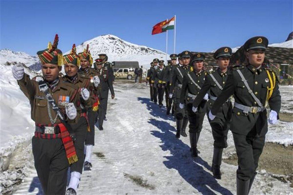 भारतीय और चीन सेना लद्दाख गोगरा