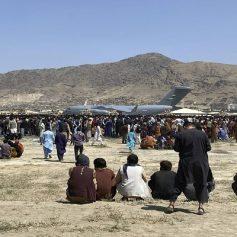 heavy aerial firing at kabul airport