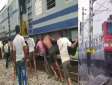 laborers pushed wagon of train