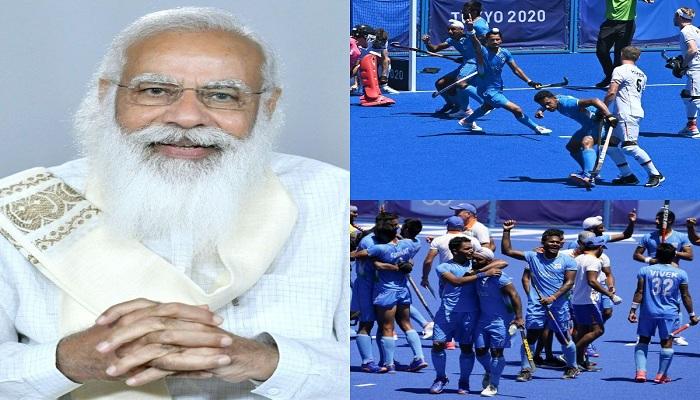 pm modi congratulates indian hockey team