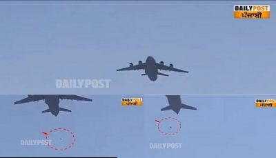 three people fell as plane