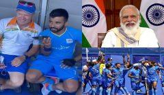 pm modi speaks to india hockey team
