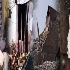 collapse of old factory building in Ludhiana