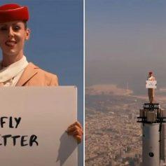 uae airline shoots advertisement