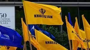 Khalistani flags hoisted