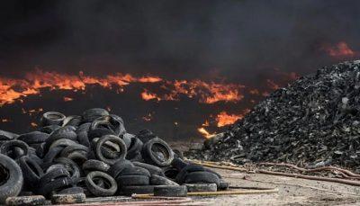 World biggest tyre graveyard