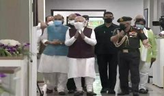 pm modi inaugurates new defence ministry office