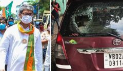 bhawinipur bypoll bjp leaders car attacked