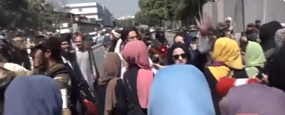 violent womens protest in kabul