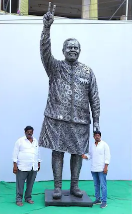father son made 14 feet tall statue