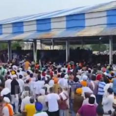 farmers marching towards karnal Mini Secretariat