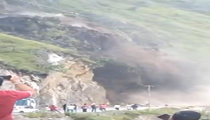 landslide on national highway 5
