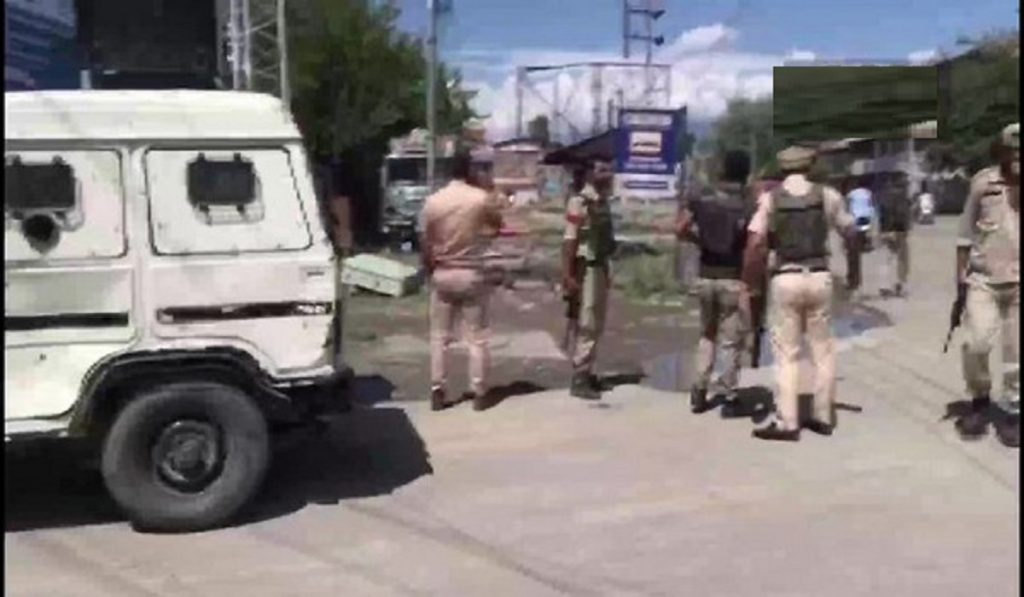terrorists hurled grenade at security forces