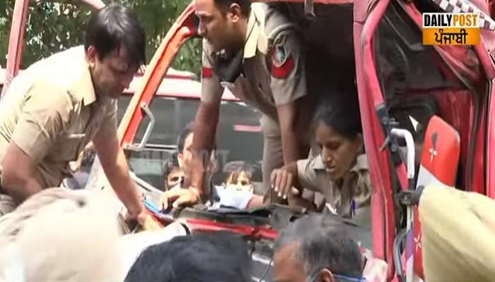 rbi trucks clash in chandigarh