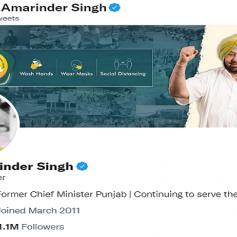 captain amarinder singh twitter bio changed