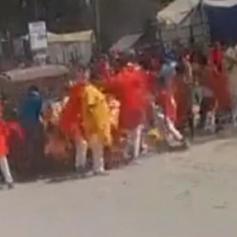 chhattisgarh speedy car rams devotees