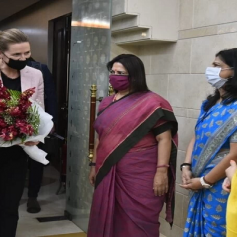 pm of denmark arrives in india
