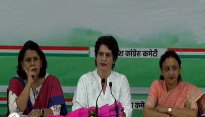 priyanka gandhi press conference