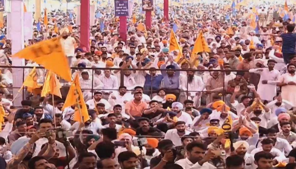 Shiromani Akali Dal bathinda protest rally