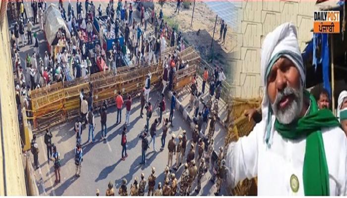 ghazipur border open today tikait said